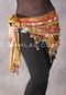 Multi-color Egyptian Teardrop Wave Wrap Hip Scarf