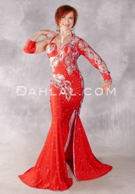 Red Star Glamour Egyptian Rhinestone Dress