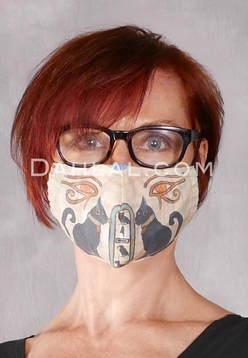Bastet and Eye of Horus Face Mask