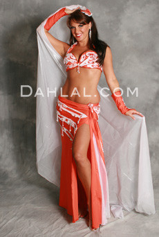 LUMIERE by Pharaonics of Egypt, Egyptian Belly Dance Costume, Available for Custom Order image