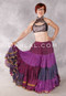 Plum and Silver Small High Collar Tie Back Halter Top
