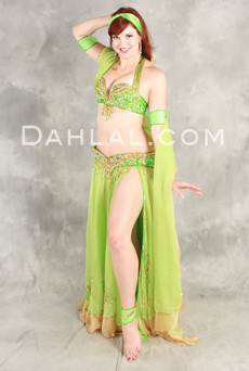 TRIMMED IN TREASURE by Pharaonics of Egypt, Egyptian Belly Dance Costume, Available for Custom Order image