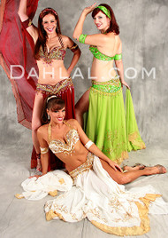 TRIMMED IN TREASURE by Pharaonics of Egypt, Egyptian Belly Dance Costume, Available for Custom Order