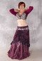 Silk Brocade Low-High Ruched Skirt - Iridescent Wine, Skirt #14