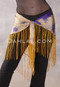 Tie Dyed Silk Fringe Shawl - Gold and Purple
