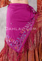 Egyptian Embroidered Bedouin Shawl - Magenta with Green, Blue, White and Orange