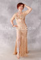 Golden Lace Egyptian Dress front view