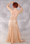 Golden Lace Egyptian Dress back view