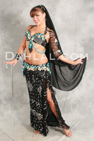 ASSUIT AFFAIR by Pharaonics of Egypt, Egyptian Belly Dance Costume, Available for Custom Order