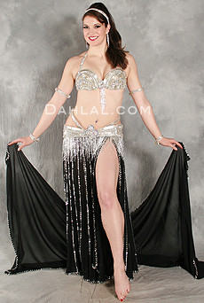 DECADENCE Bra & Belt Set by Pharaonics of Egypt, Egyptian Belly Dance Costume, Available for Custom Order image