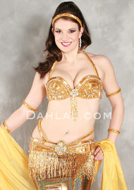 DECADENCE Bra & Belt Set by Pharaonics of Egypt, Egyptian Belly Dance Costume, Available for Custom Order