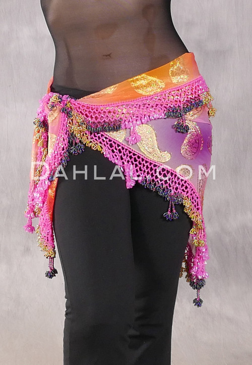Dynasty VII hot pink hip scarf