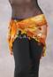 DYNASTY VII Wide Row Crocheted Scarf- Orange