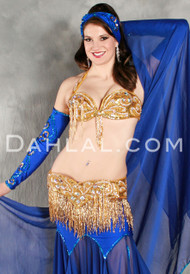 EXTRAVAGANCE Bra and Belt Set by Pharaonics of Egypt, Egyptian Belly Dance Costume, Available for Custom Order
