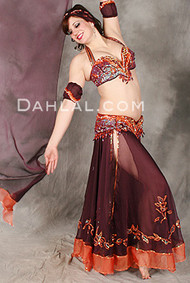 TRIMMED IN TREASURE II by Pharaonics of Egypt, Egyptian Belly Dance Costume, Available for Custom Order