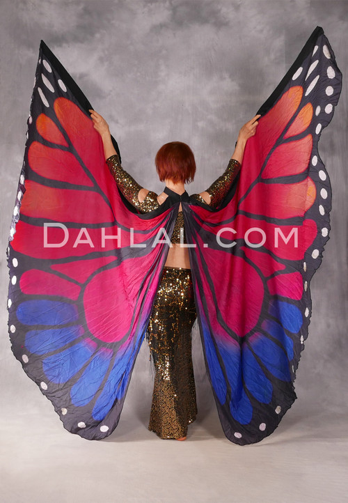 Silk Screen Printed Butterfly Wings of Isis
