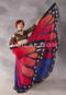 Silk Screen Printed Butterfly Wings of Isis - Orange, Red, Fuchsia & Royal Blue