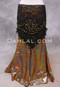 SELKET Lace and Ribbon Shawl - Black and Gold