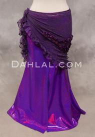 SELKET Lace and Ribbon Shawl - Purple