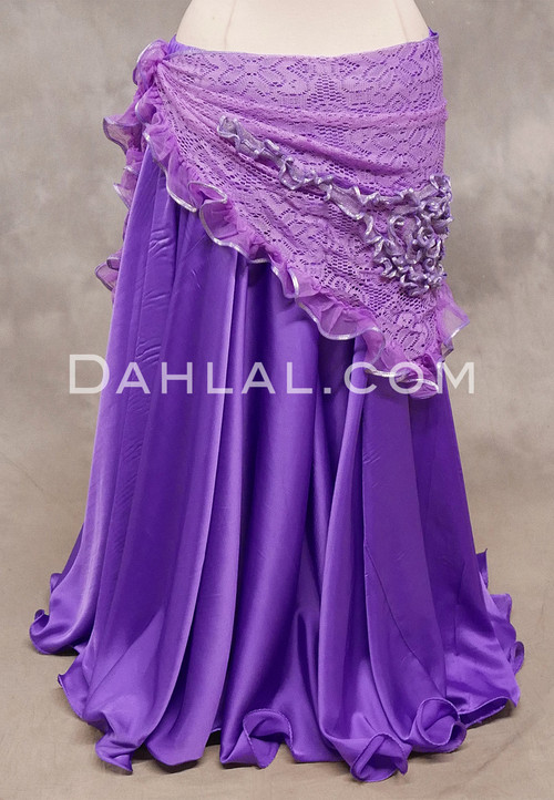 SELKET Lace and Ribbon Shawl - Lavender