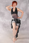 Vintage Style Halter Neck Luxor Middle Mesh Short Unitard with Ruffles