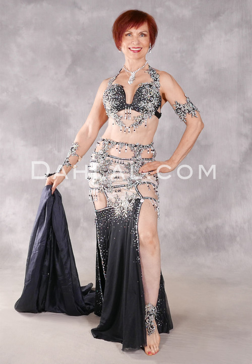 CHAMPAGNE ON ICE Egyptian Costume - Black, Nude and Silver