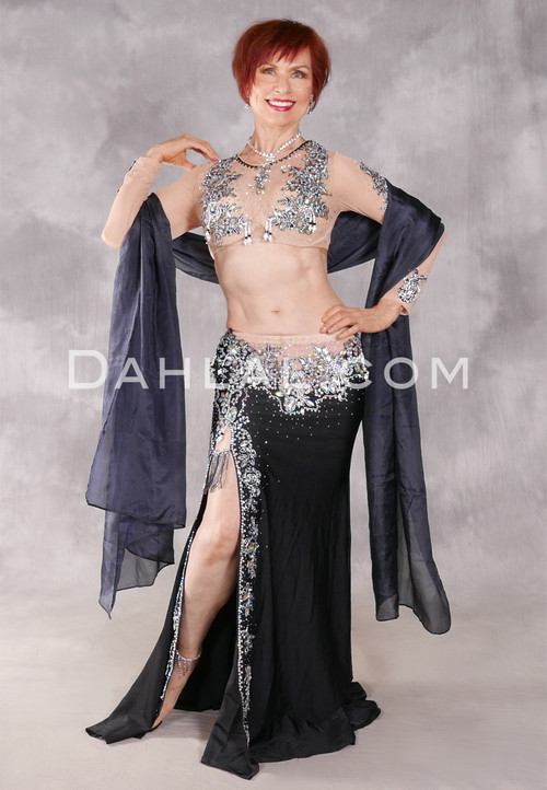 ENCHANTED NIGHTS Egyptian Costume - Black, Nude and Silver