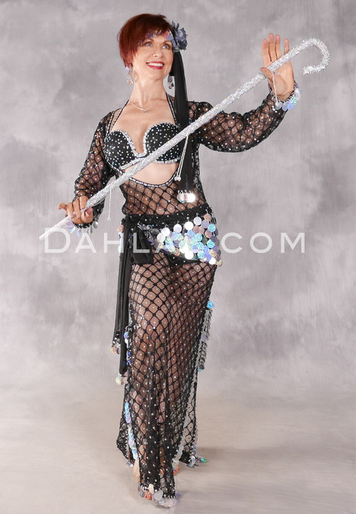 Front View with Sequin Beaded Cane