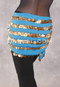 Five-Row Egyptian Coin Hip Scarf back view