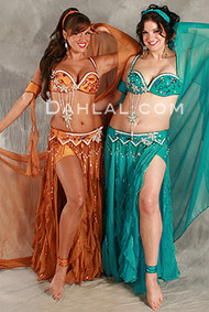 FLIRTY FLAIR II by Pharaonics of Egypt, Egyptian Belly Dance Costume, Available for Custom Order