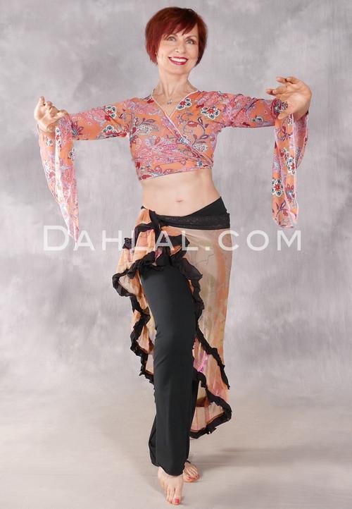 Samira Printed Wrap Top - Spring Paisley