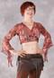 Samira Printed Wrap Top - Cherry Cordial, Size Medium