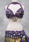 Purple Assuit Tribaret Bra and Belt Set