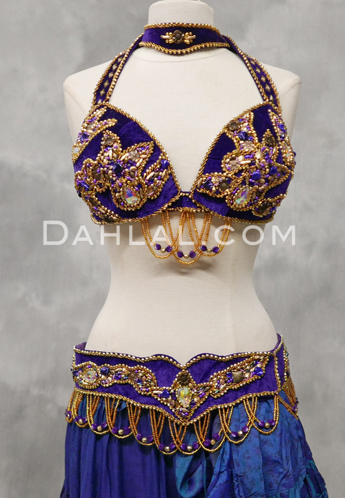 Tribaret Bra and Belt Set in Purple