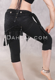Forever Lace Fold Over Hip Wrap - Black