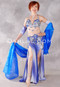 Cerulean Scape Egyptian Costume - Royal Blue, Light Blue and Silver