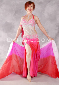 KINETIC CAPTIVATION Egyptian Costume - Hot Pink, Fuchsia and Silver