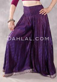 Purple Sari Wide Leg Pants