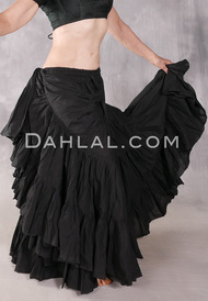 Solid Cotton 25 Yard Tiered Skirt