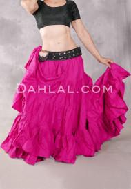 Solid Cotton 25 Yard Tiered Skirt Fuchsia