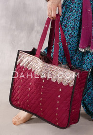 Quilted Silk Brocade Tote