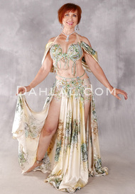 ROMANTIC ENCOUNTER Egyptian Costume - Gold, Lime, Yellow and Ivory
