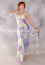 SUMMER OBSESSION Egyptian Dress - Lavender, Mint, Yellow, Purple and Gold