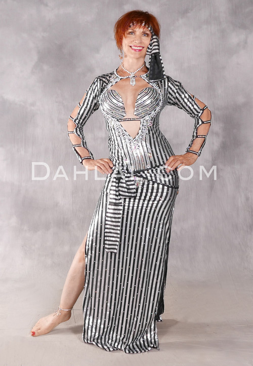 FIFI'S ULTRA SAIDI DRESS - Black and Silver