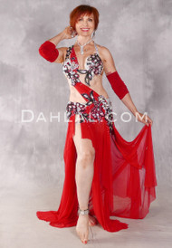 SCARLET AFFAIR Egyptian Costume - Red, Silver and Black