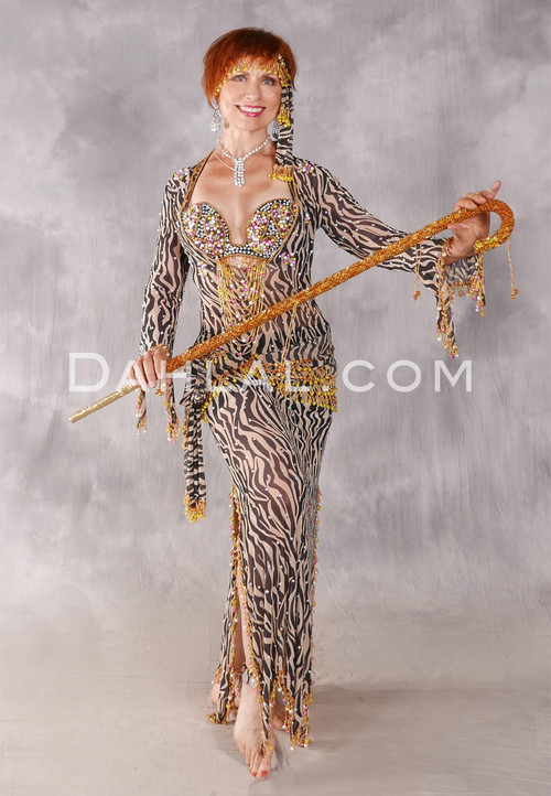 ON THE WILD SIDE Egyptian Dress - Black, Nude, Gold, Pink and Yellow