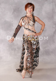 PHARAOH'S JEWEL Egyptian Costume - Black, Nude, Gold and Red