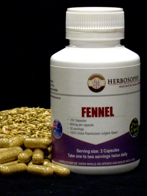 Fennel Loose Herb, Powder or Capsules @ Herbosophy