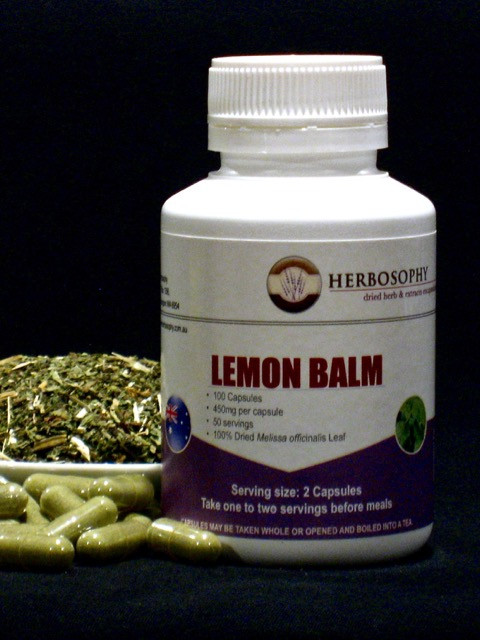Lemon Balm Loose Herb, Powder or Capsules @ Herbosophy