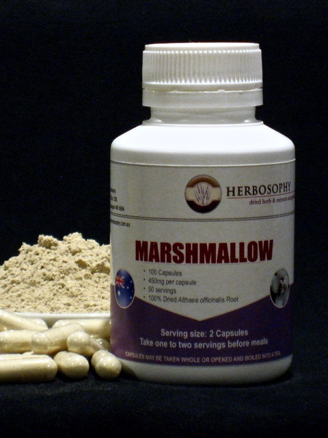 Marshmallow Loose Herb, Powder or Capsules @ Herbosophy